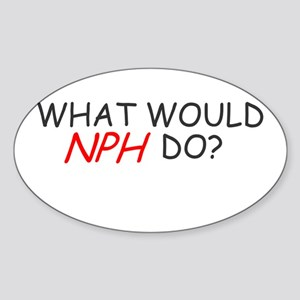 WHAT WOULD NPH DO SHIRT NEIL Oval Sticker