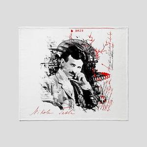 Nikola Tesla Throw Blanket