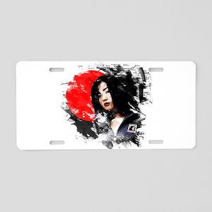 Japanese Girl Aluminum License Plate