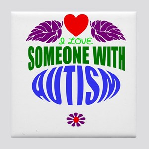 Autism heart Tile Coaster