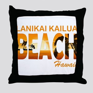 lanikai kailua Throw Pillow
