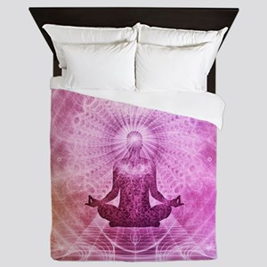 Spiritual Yoga Meditation Zen Colorful Queen Duvet