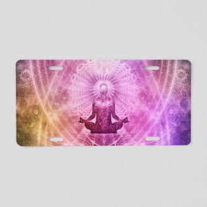 Spiritual Yoga Meditation Z Aluminum License Plate