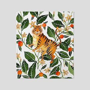 TIGER IN TROPICS Throw Blanket