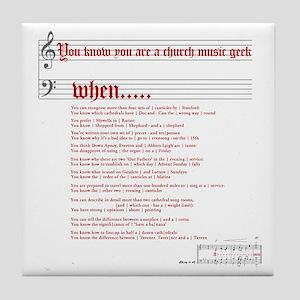 Church Music Geek Tile Coaster