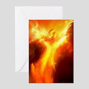 Phoenix greeting cards cafepress phoenix rising greeting card m4hsunfo