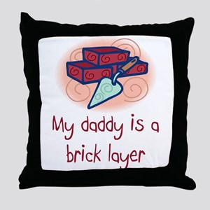 Brick Mason Throw Pillow