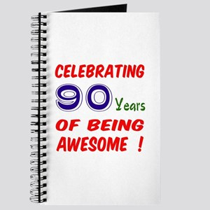 Celebrating 90 Years Of Being Awesome Journal