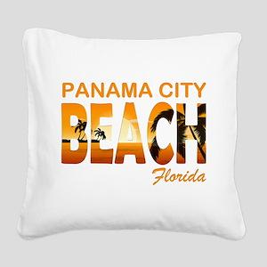 Florida - Panama City Beach Square Canvas Pillow
