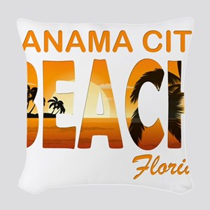 Florida - Panama City Beach Woven Throw Pillow