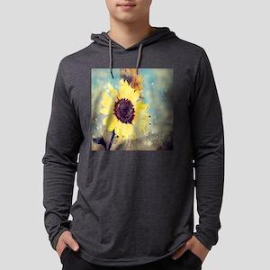 romantic summer watercolor sun Long Sleeve T-Shirt