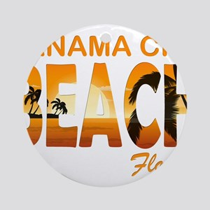 Florida - Panama City Beach Round Ornament