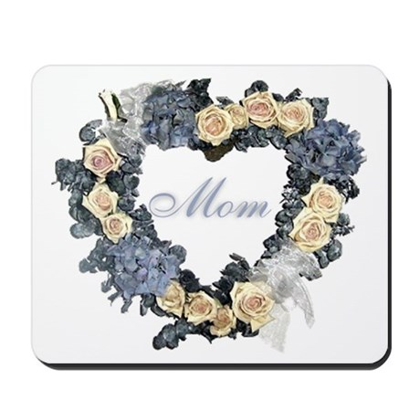 Mom Violet Wreath Mousepad