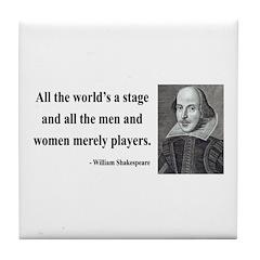 Shakespeare 1 Tile Coaster