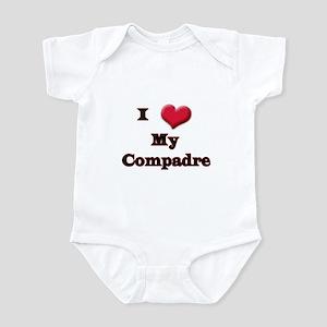 I Love (Heart) My Compadre Infant Bodysuit