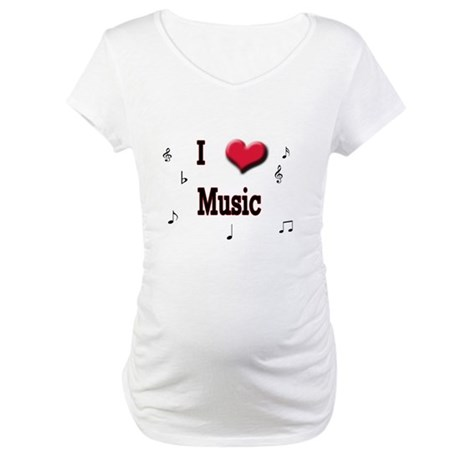 I Love (Heart) Music Maternity T-Shirt