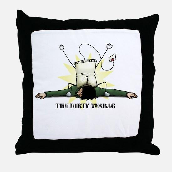 Dirty Teabag Throw Pillow