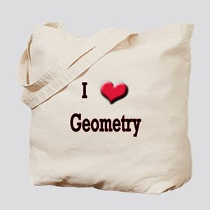 I Love (Heart) Geometry Tote Bag