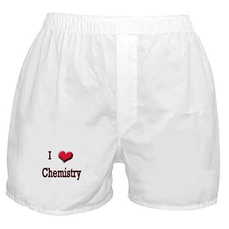 I Love (Heart) Chemistry Boxer Shorts