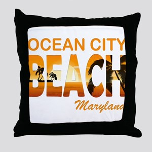 Maryland - Ocean City Throw Pillow