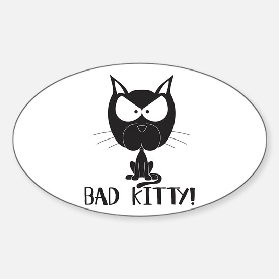 Bad Kitty Oval Decal