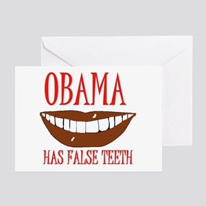 OBAMA'S FALSE TEETH  Greeting Cards (Pk of 20)