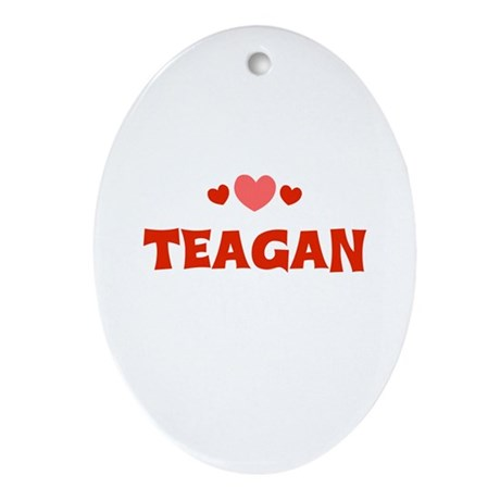 Teagan Oval Ornament