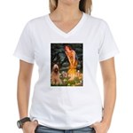 Fairies / Briard Women's V-Neck T-Shirt