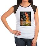 Fairies / Briard Women's Cap Sleeve T-Shirt
