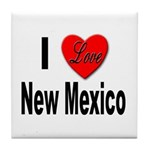 I Love New Mexico Tile Coaster