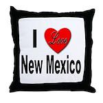 I Love New Mexico Throw Pillow