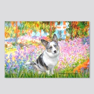 Garden / Corgi (bm) Postcards (Package of 8)