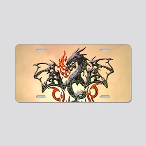 Wonderful dragon, tribal design Aluminum License P