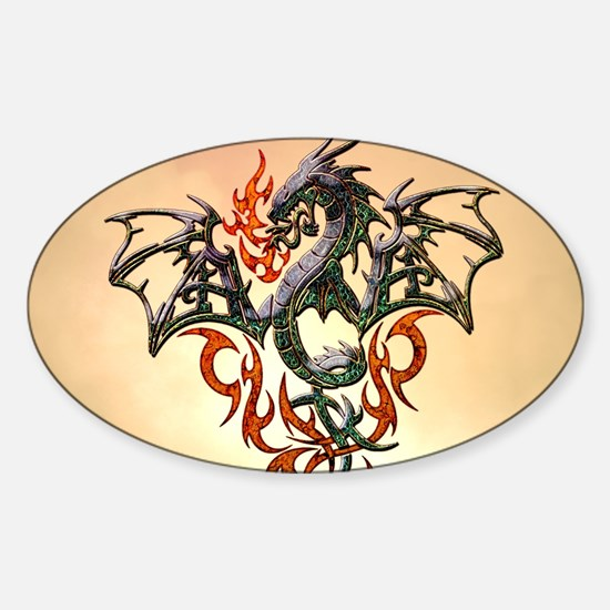 Wonderful dragon, tribal design Decal