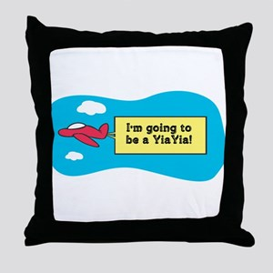 I'm Going to be a YiaYia! Throw Pillow
