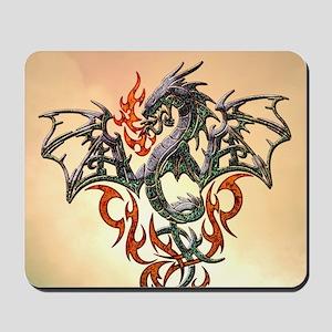 Wonderful dragon, tribal design Mousepad