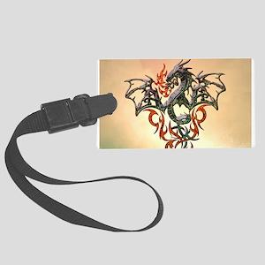 Wonderful dragon, tribal design Luggage Tag