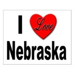 I Love Nebraska Small Poster
