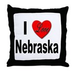 I Love Nebraska Throw Pillow