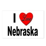I Love Nebraska Postcards (Package of 8)
