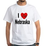 I Love Nebraska (Front) White T-Shirt