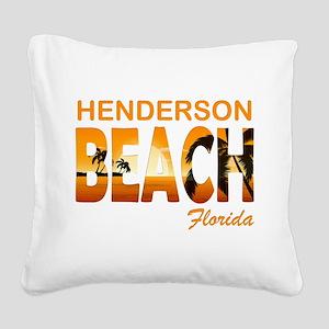 henderson beach Square Canvas Pillow