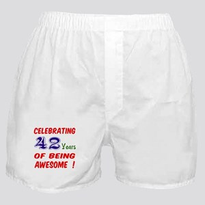 Celebrating 42 Years Of Being Awesome Boxer Shorts