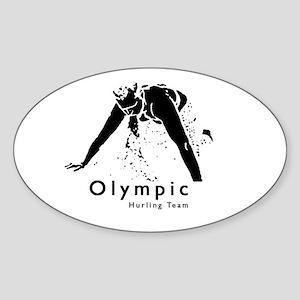 Olympic Hurling Team! Oval Sticker
