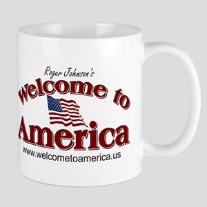 Welcome to America logo Mug