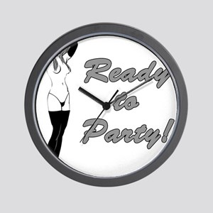 Hot Chick Ready to Party Wall Clock