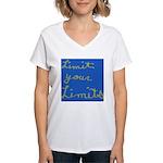 Limit Your Limits Women's V-Neck T-Shirt