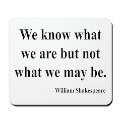 Shakespeare 3 Mousepad