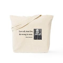 Shakespeare 4 Tote Bag