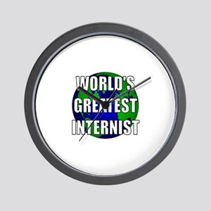 World's Greatest Internist Wall Clock